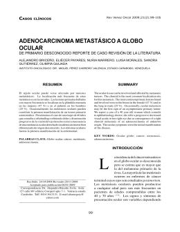 ADENOCARCINOMA METASTÁSICO A GLOBO OCULAR