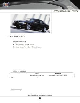 2004 Información del Producto