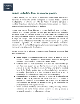 Somos un bufete local de alcance global.