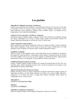 03 Los Pueblos - Asociación Tierras Sorianas del Cid