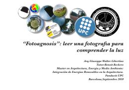 """Fotoagnosis"": leer una fotografia para comprender la"