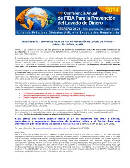 Anunciando la Conferencia Anual de FIBA en Prevencio de