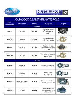 CATÁLOGO DE ANTIVIBRANTES HUTCHINSON