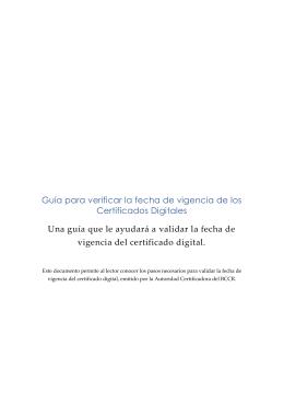 Guía para verificar la fecha de vigencia de los Certificados Digitales