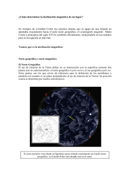 Cómo determinar la declinación magnética[...]