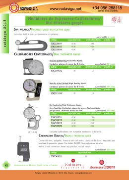 Medidores de Espesores-Calibradores/ Dial thickness gauges