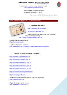 BIBLIOTECA sitios web de interés