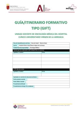GUÍA/ITINERARIO FORMATIVO TIPO (GIFT)