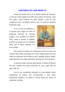 Biografía Luis Braille