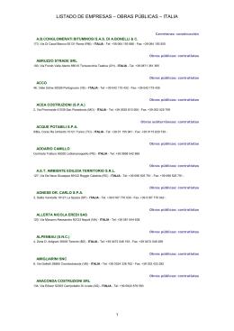 Listado de empresas construcci n italia for Listado de empresas malaguenas