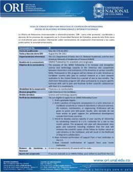 Conv. 35 - Universidad Nacional de Colombia
