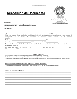 Reposición de Documento