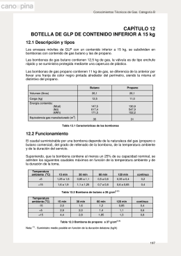 CAPÍTULO 12 BOTELLA DE GLP DE CONTENIDO