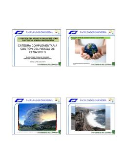 La Gestión del Riesgo de Desastres como parte de la agenda