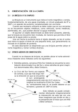 5. ORIENTACIÓN DE LA CARTA 5.1 LA BRÚJULA Y SU EMPLEO