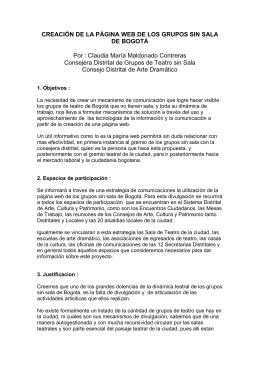 CREACION PAGINA WEB DE LOS GRUPOS SIN SALA DE BOGOTA