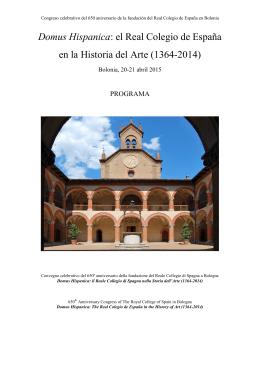 Domus Hispanica: el Real Colegio de España en la