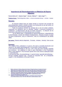 Importancia del Electrodiagnóstico en Medicina del Equino Deportivo