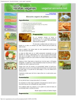 Vegetarianismo.net :: bizcocho de platano :: receta