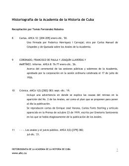Historiografía de la Academia de la Historia de Cuba