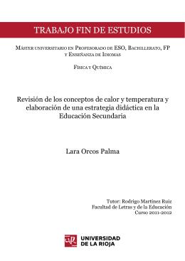 Revisión de los conceptos de calor y temperatura y elaboración de