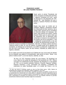 FRANCISCO JAVIER DE LUNA PIZARRO PACHECO Quien sería el