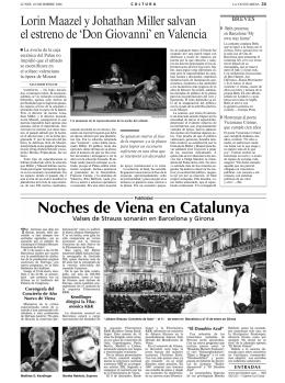 Lorin Maazel y Johathan Miller salvan el estreno de `Don Giovanni