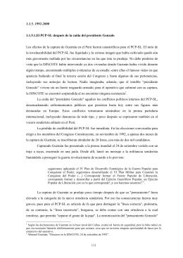 """el """"presidente Gonzalo"""""""