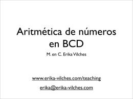 Aritmética de números en BCD