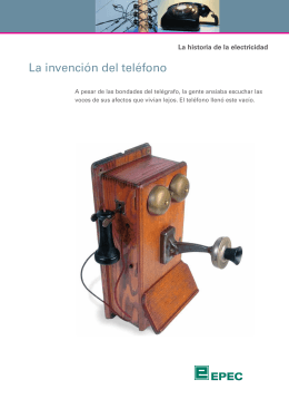 La invención del teléfono