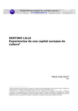 DESTINO LILLE Experiencias de una capital europea de cultura1