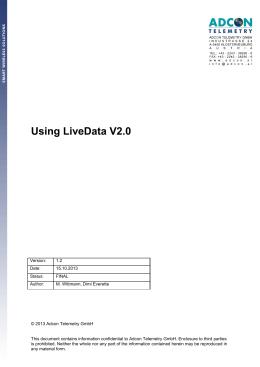 LiveData manual - addVANTAGE Pro 6.5