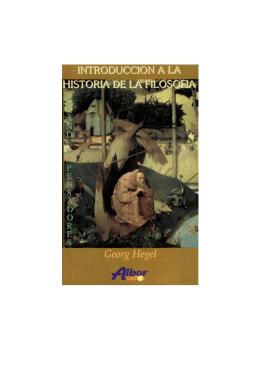 Introducción a la historia de la filosofía