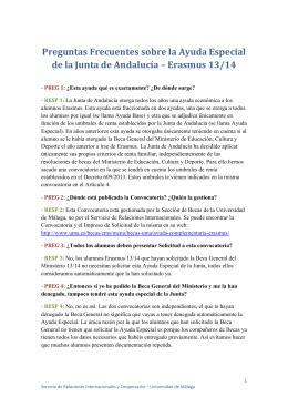 Erasmus 13 - Universidad de Málaga