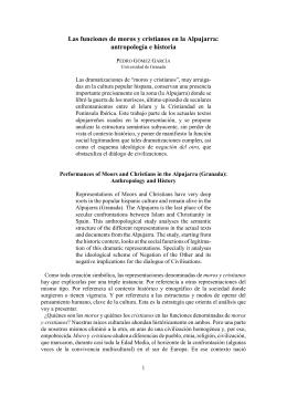 Las funciones de moros y cristianos en la Alpujarra