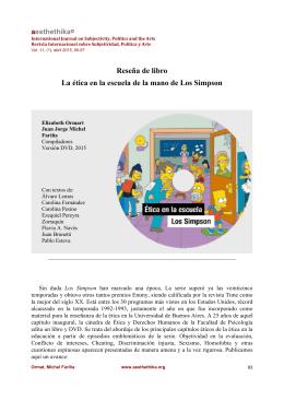Reseña de libro La ética en la escuela de la mano de Los Simpson