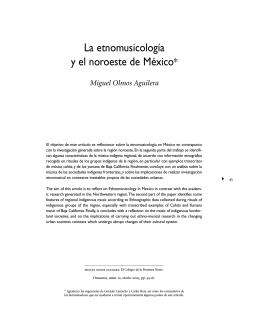 La etnomusicología y el noroeste de México
