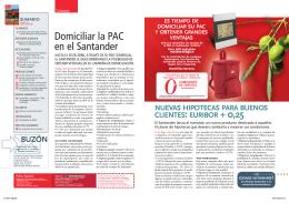 Domiciliar la PAC en el Santander