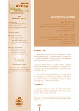 Espirometría forzada - Asociación Española de Pediatría de