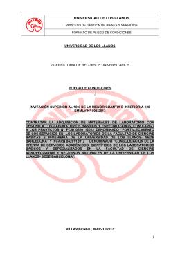 INVITACION A COTIZAR - Universidad de los Llanos