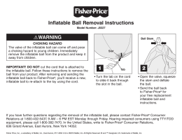 WARNING Inflatable Ball Removal Instructions