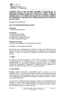 Plantilla Informe CNMC