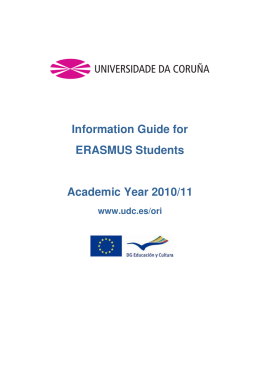 Information Guide for ERASMUS Students Academic Year 2010/11