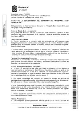 BASES DE LA CONVOCATORIA DEL CONCURSO DE