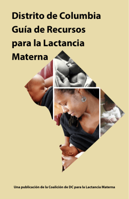 Distrito de Columbia Guía de Recursos para la Lactancia Materna