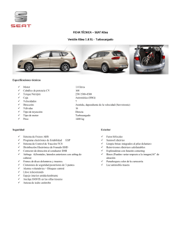 FICHA TÉCNICA – SEAT Altea Versión Altea 1.8 XL