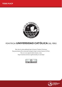 TESIS PUCP - Pontificia Universidad Católica del Perú