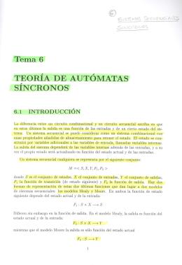 Tema 6 TEORIA DE AUTOMATAS SINCRONOS ,