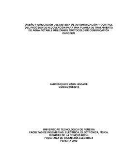 diseño y simulación del sistema de automatización y control