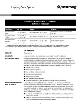 BALDOSAS DE VINILO DE LUJO COMERCIAL Sistema